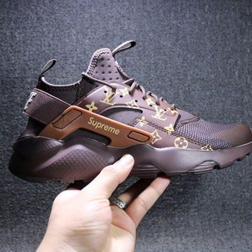 ONETOW Sale LV x Supreme x Nike Air Huarache 4 Men Women Hurache Mesh Sport Running Shoes Casual Shoes Sneakers 819685-108