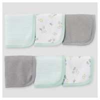 Baby 6-Pack Animals Washcloth Teal Animals - Just One You™ Made by Carter's®