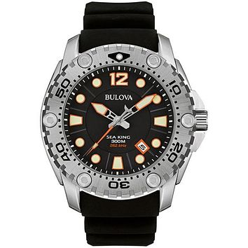 Bulova Mens Sea King UHF Professional Dive Watch - Black - 300M WR