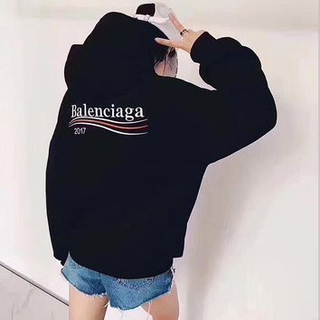 balenciaga fashion logo hooded sport top sweater sweatshirt hoodie 5
