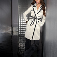 INC International Concepts Petite Trench Coat & Bootcut Pull-On Pants