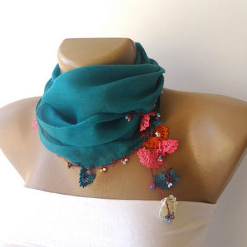 oil blue women fashion scarf, summer accessories , gifts for her
