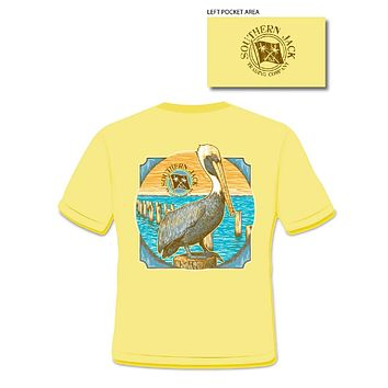 Southern Jack Apparel Pelican Comfort Colors Unisex Frass Bright T Shirt