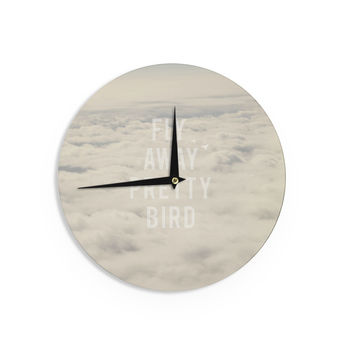 "Catherine McDonald ""Fly Away Pretty Bird"" Wall Clock"