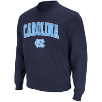 Men's Stadium Athletic Navy North Carolina Tar Heels Arch & Logo Crew Pullover Sweatshirt