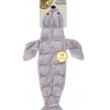 """Ethical Pet Skinneeez Tons-O-Squeakers Seal Dog Toy 21"""""""