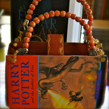 Handbag Altered Book Purse Harry Potter And The Goblet of Fire