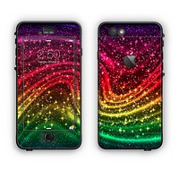 The Neon Mixed Color Starry Waves Apple iPhone 6 Plus LifeProof Nuud Case Skin Set