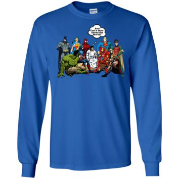 NEW JESUS SUPERHEROES Shirt Long Sleeve How I Saved The World DC Adults and Kids