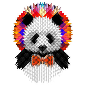Ali Gulec's Geometric Panda Wall Decal