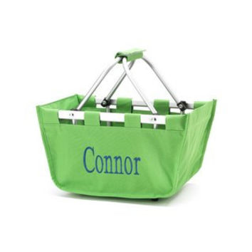 Personalized Green Easter Basket for boys or girls SHIPS in 1 TO 3 days