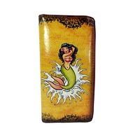 Rockabilly Vintage Tattoo Mermaid and Anchor Art Wallet w/Gift Box