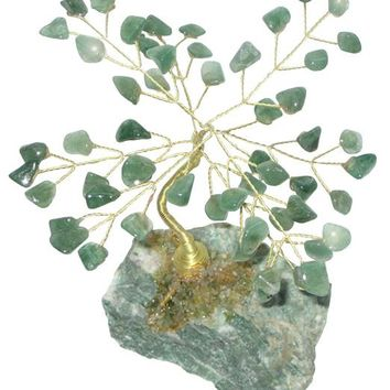 Money Tree In Green Aventurine Gemstone