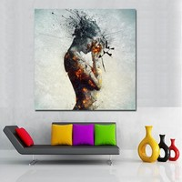 SELFLESSLY ART Nude Women Canvas Painting For Living Room Wall Decor Posters and Prints Abstract Picture Wall Art Dropshipping