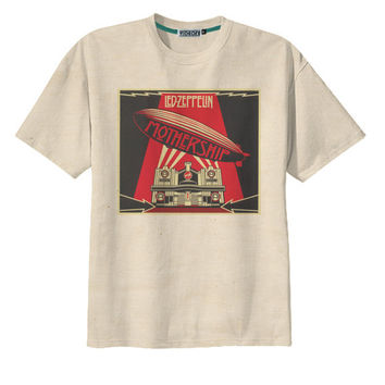Retro Led Zeppelin Mother Ship Rock n Roll Band T-Shirt Tee Orga. Vintage  Tops ... 1f4ebffc19e1