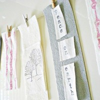 Garland/Banner in Felt Ink and LinenFor the Modern by indobay