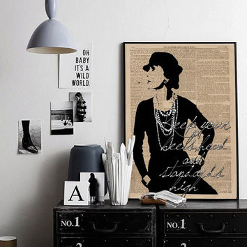 Printable Art Inspirational Print Coco Chanel Poster Coco Chanel Quote Typography Quote Home Decor Motivational Poster Coco Chanel Vintage