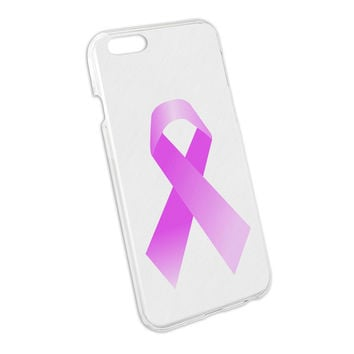 Breast Cancer Pink Survivor Ribbon on White Snap On Hard Protective Case for Apple iPhone 6