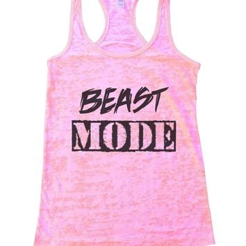 Beast Mode Burnout Tank Top By Funny Threadz