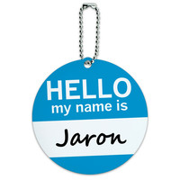 Jaron Hello My Name Is Round ID Card Luggage Tag