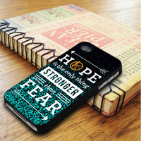Hunger Games Even Peters Hope Qoutes iPhone 5 | iPhone 5S Case