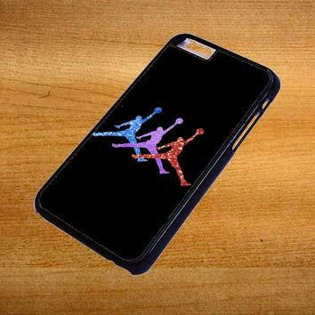 Michael Jordan Retro 7 Raptors Logo Glitter Sparkly For iPhone 6 Plus Case *76*