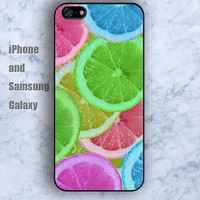 colorful Cartoon lemon iPhone 5/5S Ipod touch Silicone Rubber Case, Phone cover
