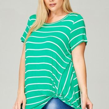 Plus Size Twist Tunic Top