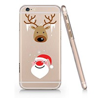 Merry Christmas Clear Transparent Plastic Phone Case for iphone 6 6s_ SUPERTRAMPshop