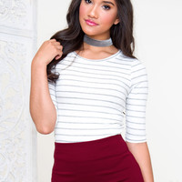 Lucky Stripe Top - White