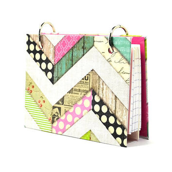 3 x 5 index card binder, chevron, recipe holder, daily journal, index card holder with a set of index card dividers