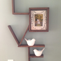 Hanging Wall Art LOVE Wooden Shelving Recycled Reclaimed Pallet Wood Shelf Shelves Dark Walnut