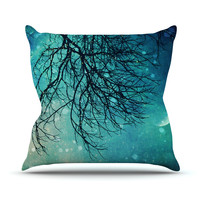 "Sylvia Cook ""Winter Moon"" Outdoor Throw Pillow"