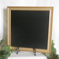 Ornate Gold Framed Chalkboard, framed chalkboard, gold Framed chalk board, kitchen menu board, black board, wedding chalkboard,