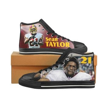 Sean Taylor Tribute Men's Classic High Top Canvas Shoes /Large Size