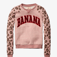 Scotch R'Belle College Crewneck Sweatshirt - Banana - 1454-06.40405 - FINAL SALE