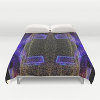 City Synthesis Duvet Cover by RichCaspian