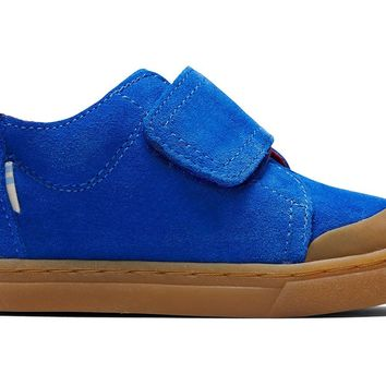 TOMS - Tiny Lenny Mid Strap Cobalt Blue Suede Sneakers