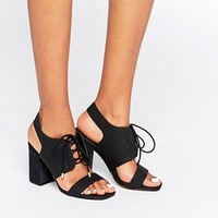 ASOS TRUE TIME Lace Up Sandals at asos.com