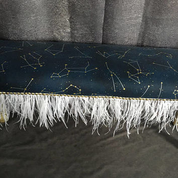 Custom Built Zodiac Feather Bench - Astrology - Zodiac Decor - Horoscope Decor - Zodiac Gift
