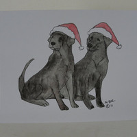 Christmas Cards Dog Christmas Cards Black Labs Labrador Retriever Cards Dog Pet Holiday Christmas Cards Set of 6