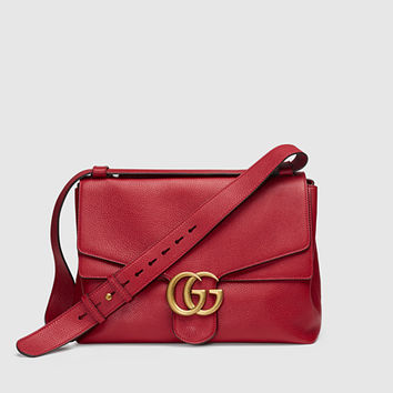Gucci - gg marmont leather shoulder bag 400245A7M0T6339