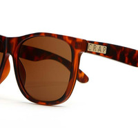 Crap Eyewear - The Beach Party Matte Tortoise Sunglasses, Amber Lenses