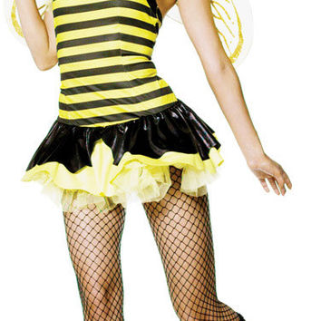 women's costume: queen bumble bee sexy | xs