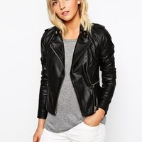 New Look | New Look Real Leather Jacket at ASOS