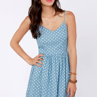 Dot So Hot Blue Polka Dot Dress