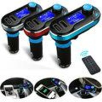 Car Electronics Gadgets Wireless Bluetooth LCD FM Transmitter