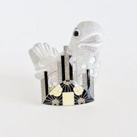 Deco Inspired Cityscape Brooch Pin