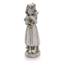 Home & Garden Garden Angel With Lamb Outdoor Decor