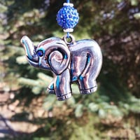 Car Accessory Rear View Mirror 3D Elephant Charm with Swarovski Crystals Elements Good Luck Charm
